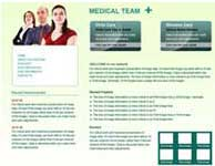 free medical web template design